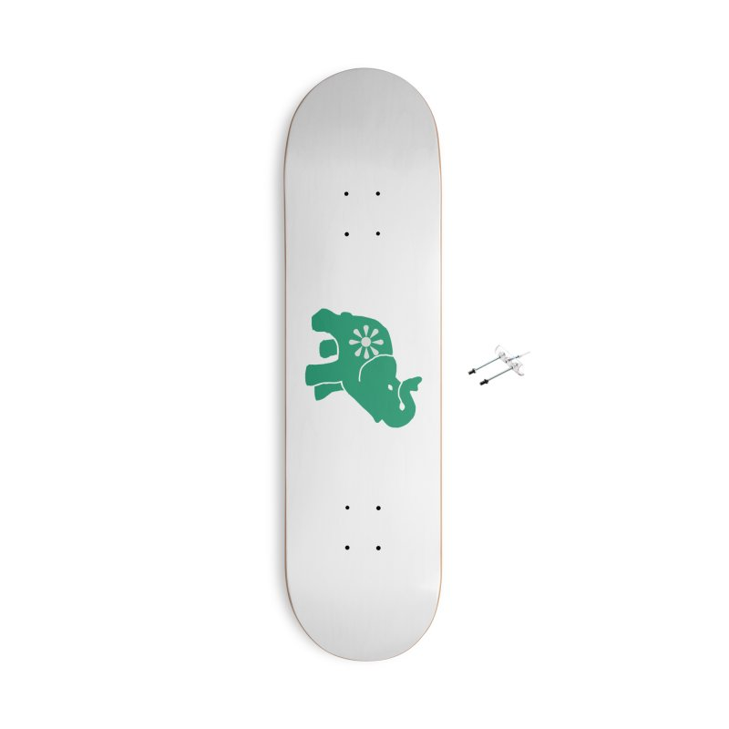 Green Elephant Accessories With Hanging Hardware Skateboard by everyonesautonomous's Artist Shop