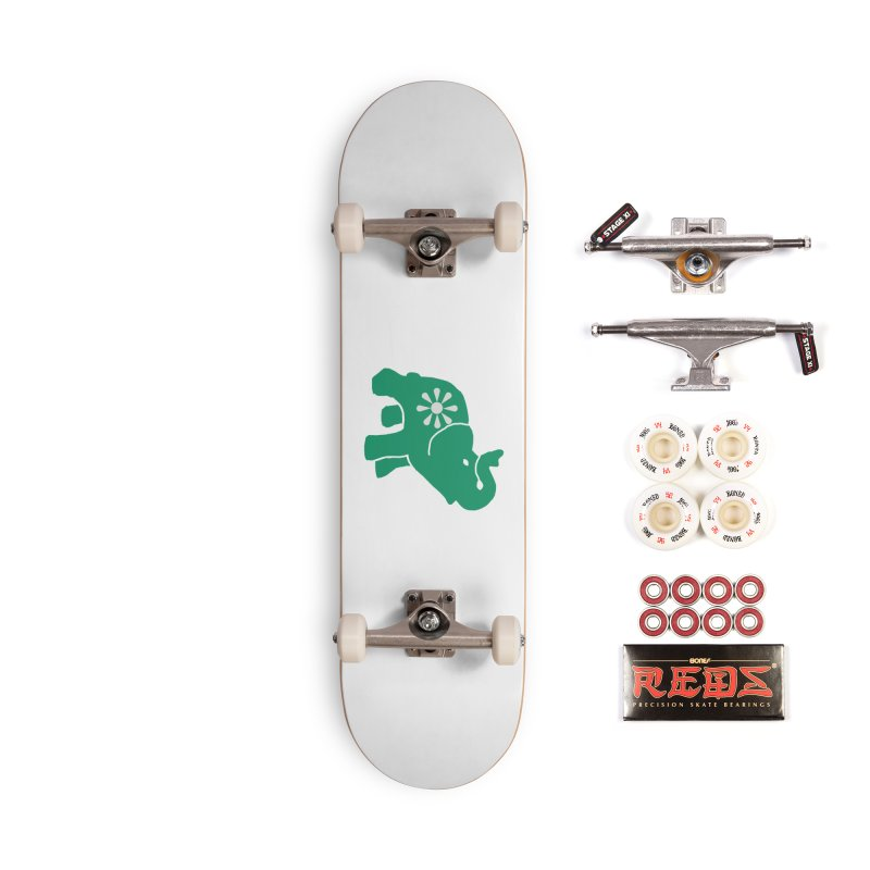 Green Elephant Accessories Complete - Pro Skateboard by everyonesautonomous's Artist Shop
