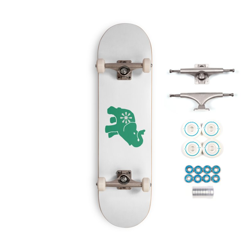 Green Elephant Accessories Complete - Basic Skateboard by everyonesautonomous's Artist Shop