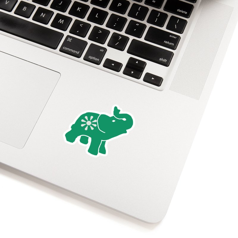 Green Elephant Accessories Sticker by everyonesautonomous's Artist Shop