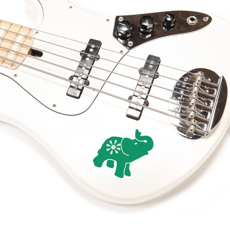 Green Elephant Accessories Sticker by Everyone's Autonomous' Artist Shop