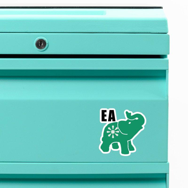 Elephant w EA Accessories Magnet by everyonesautonomous's Artist Shop