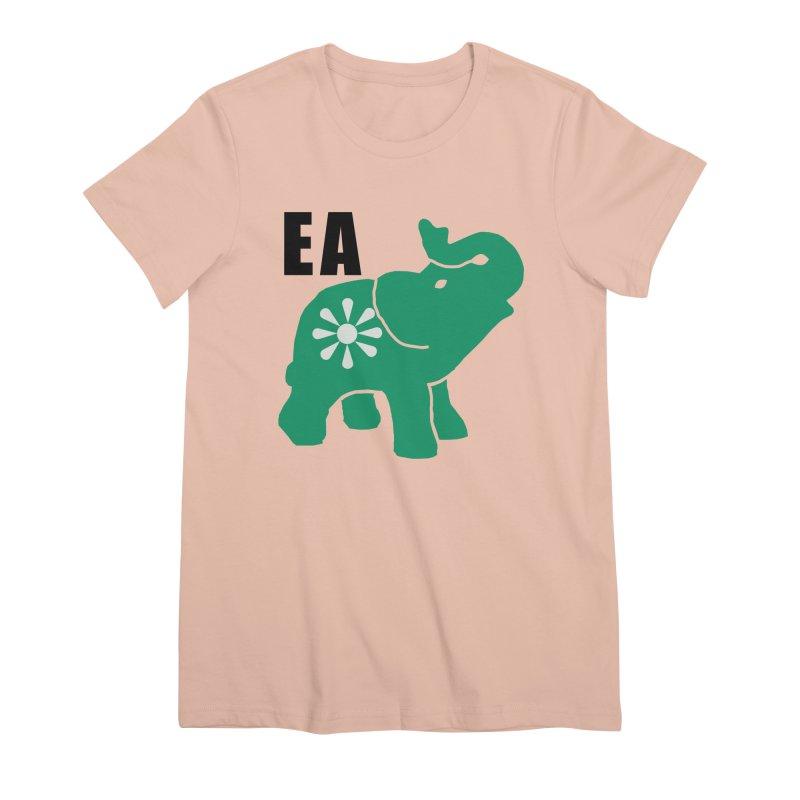 Elephant w EA Women's Premium T-Shirt by everyonesautonomous's Artist Shop