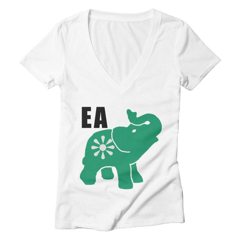 Elephant w EA Women's Deep V-Neck V-Neck by everyonesautonomous's Artist Shop