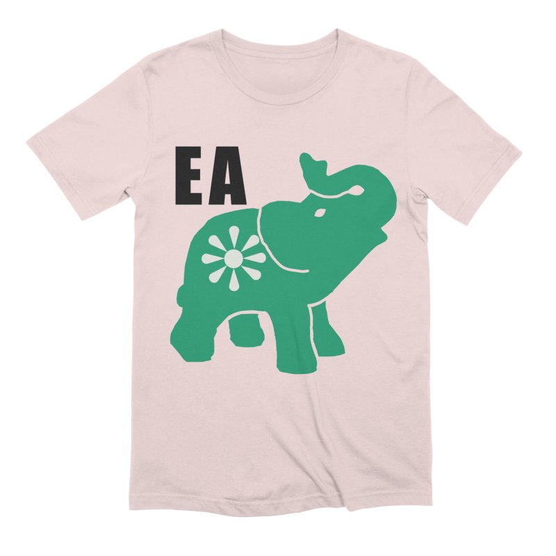 Elephant w EA Men's Extra Soft T-Shirt by everyonesautonomous's Artist Shop