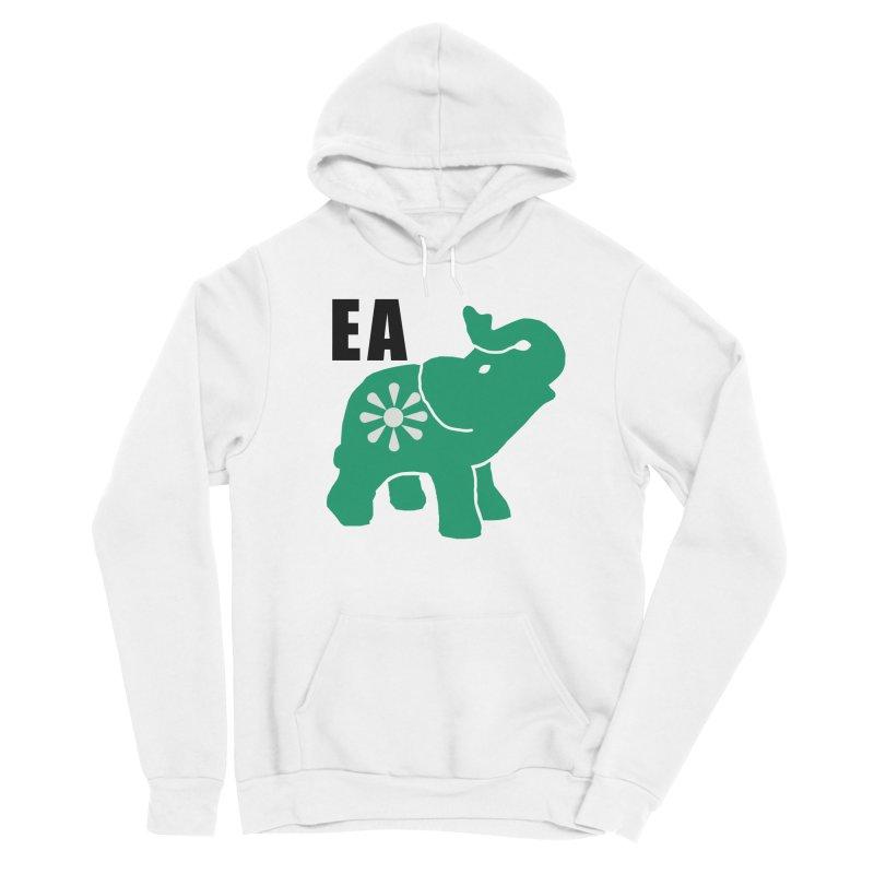 Elephant w EA Men's Sponge Fleece Pullover Hoody by everyonesautonomous's Artist Shop