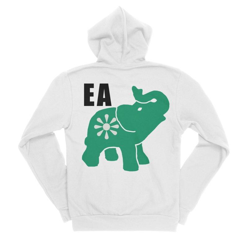 Elephant w EA Men's Sponge Fleece Zip-Up Hoody by everyonesautonomous's Artist Shop
