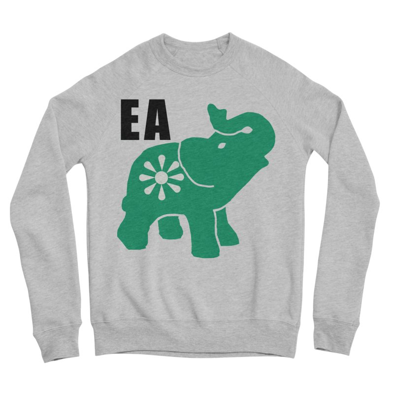 Elephant w EA Women's Sponge Fleece Sweatshirt by everyonesautonomous's Artist Shop