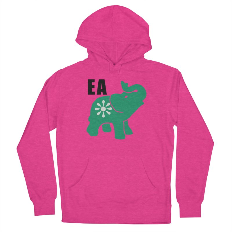 Elephant w EA Women's French Terry Pullover Hoody by everyonesautonomous's Artist Shop