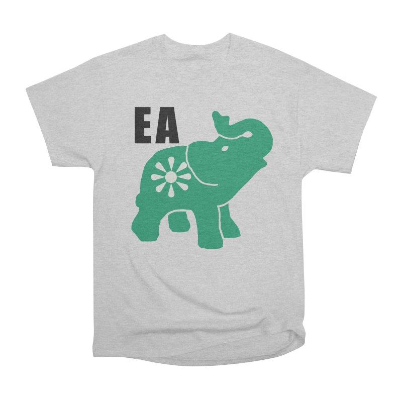 Elephant w EA Men's Heavyweight T-Shirt by everyonesautonomous's Artist Shop