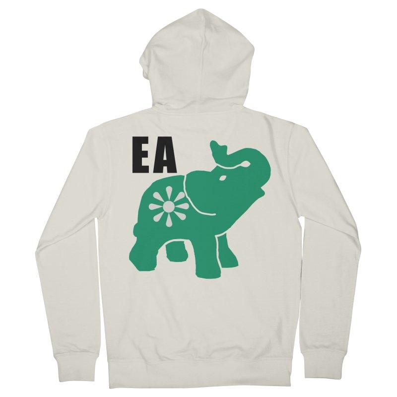 Elephant w EA Men's Zip-Up Hoody by Everyone's Autonomous' Artist Shop