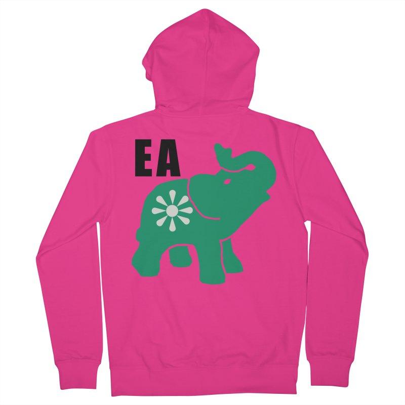 Elephant w EA Men's French Terry Zip-Up Hoody by everyonesautonomous's Artist Shop