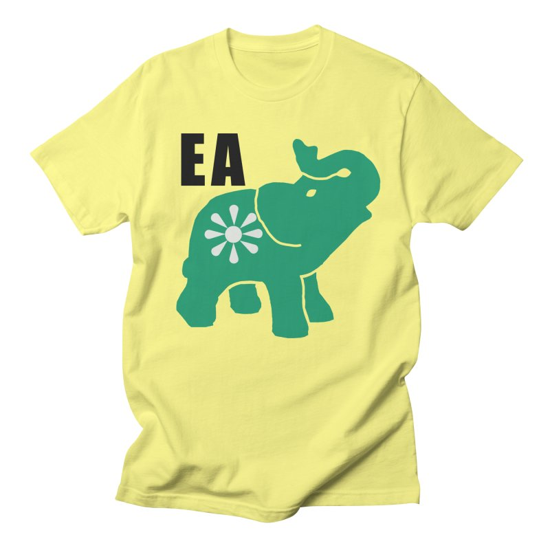 Elephant w EA Women's Regular Unisex T-Shirt by everyonesautonomous's Artist Shop