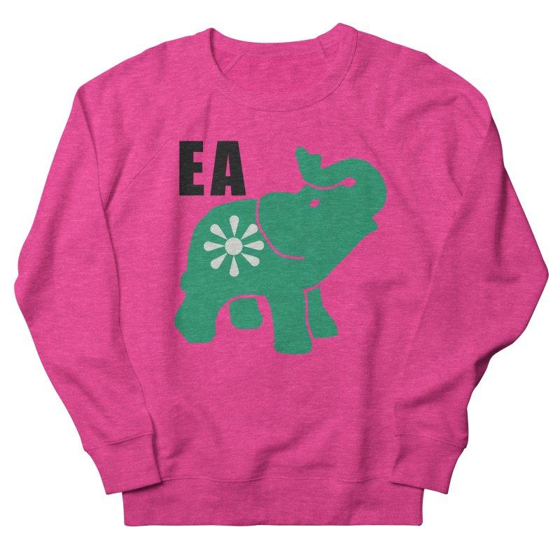 Elephant w EA Women's French Terry Sweatshirt by everyonesautonomous's Artist Shop