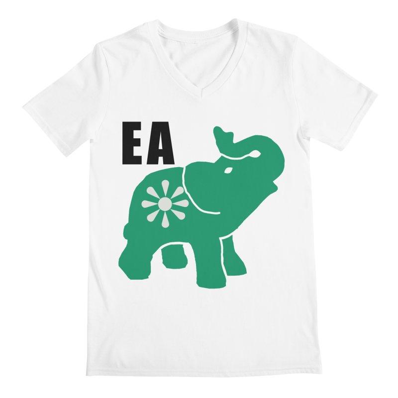 Elephant w EA Men's Regular V-Neck by everyonesautonomous's Artist Shop