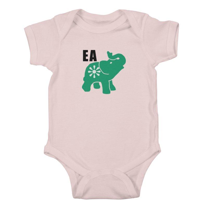 Elephant w EA Kids Baby Bodysuit by everyonesautonomous's Artist Shop