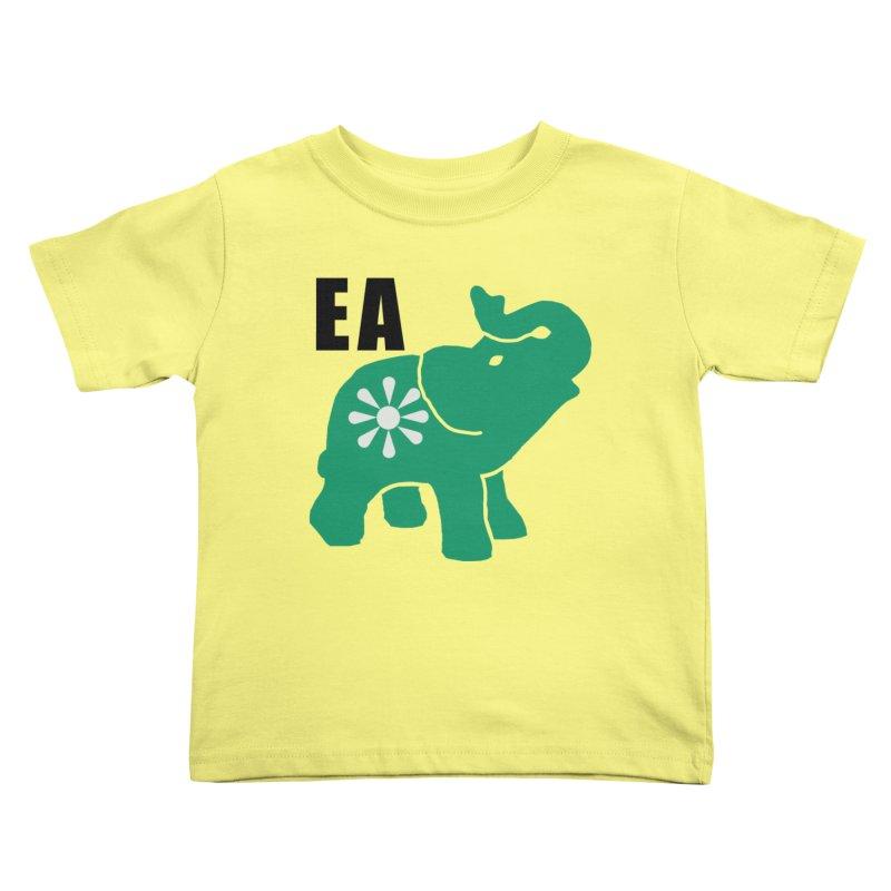 Elephant w EA Kids Toddler T-Shirt by everyonesautonomous's Artist Shop