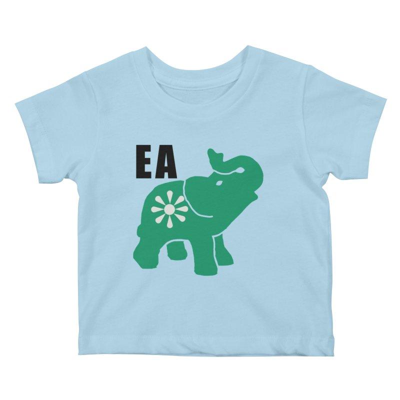 Elephant w EA Kids Baby T-Shirt by everyonesautonomous's Artist Shop