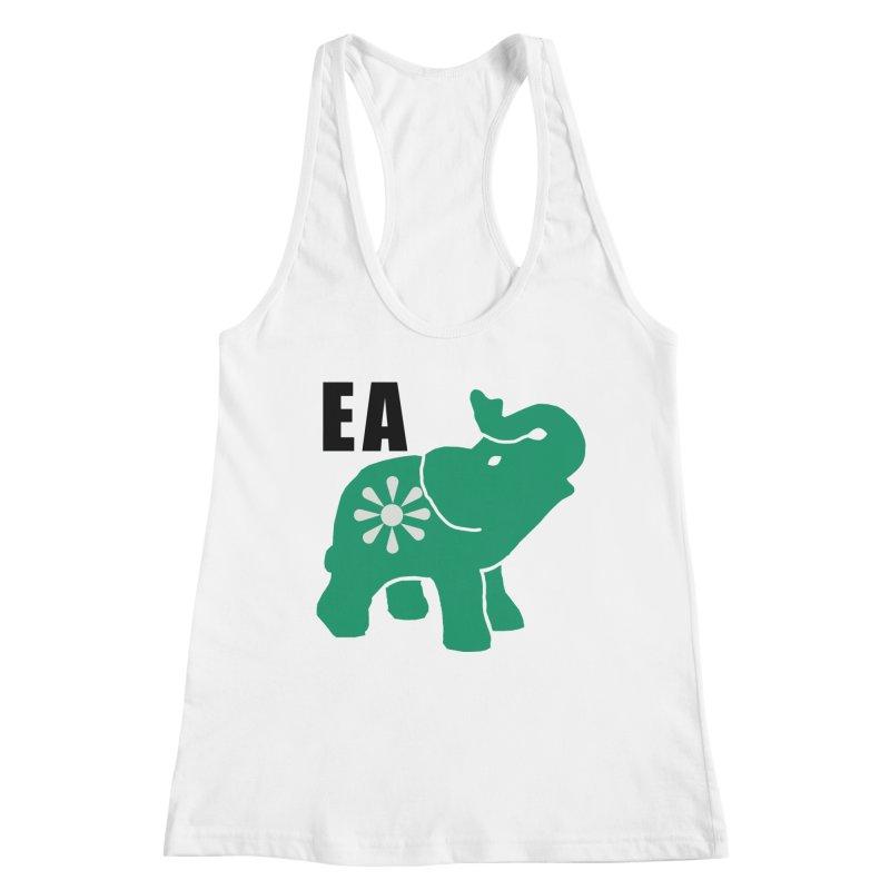 Elephant w EA Women's Racerback Tank by everyonesautonomous's Artist Shop