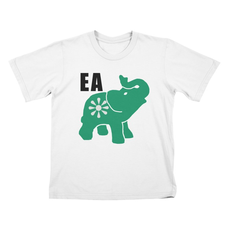Elephant w EA Kids T-Shirt by everyonesautonomous's Artist Shop