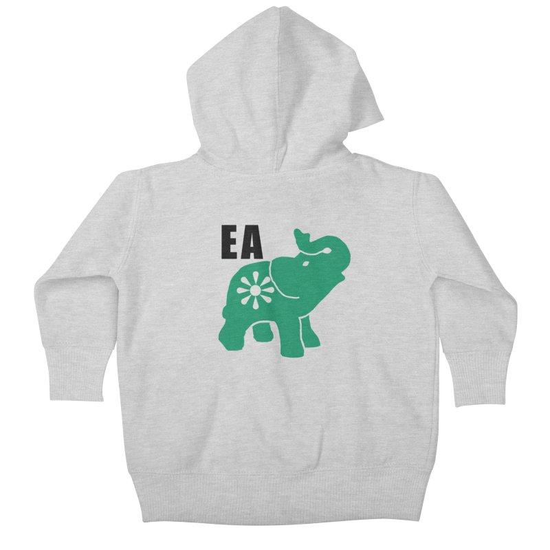 Elephant w EA Kids Baby Zip-Up Hoody by everyonesautonomous's Artist Shop