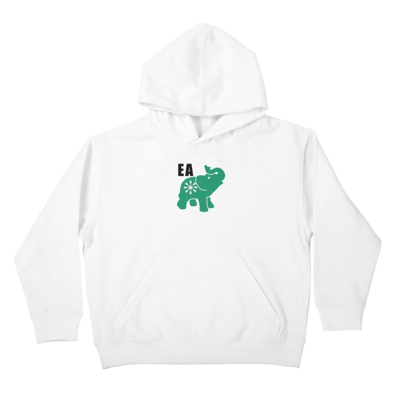 Elephant w EA Kids Pullover Hoody by everyonesautonomous's Artist Shop