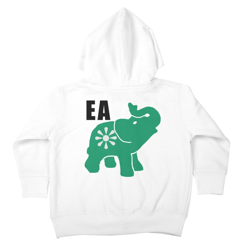 Elephant w EA Kids Toddler Zip-Up Hoody by everyonesautonomous's Artist Shop