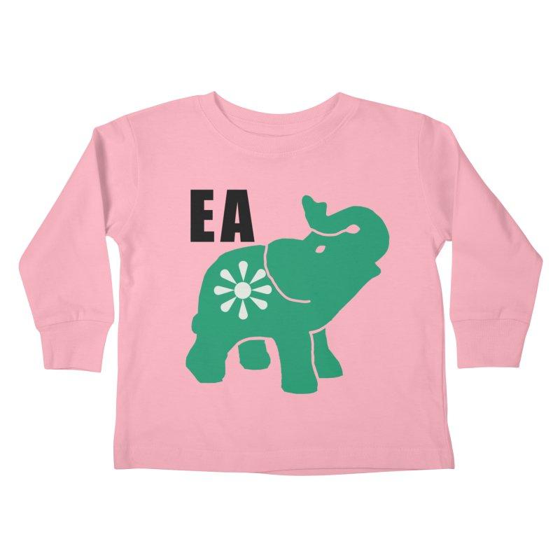 Elephant w EA Kids Toddler Longsleeve T-Shirt by Everyone's Autonomous' Artist Shop