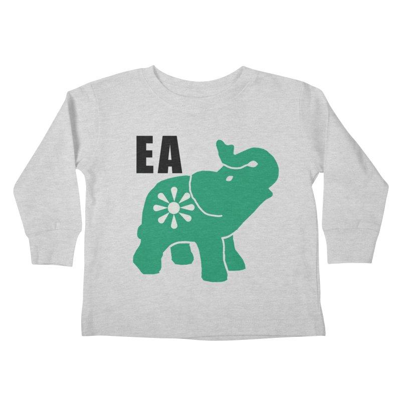 Elephant w EA Kids Toddler Longsleeve T-Shirt by everyonesautonomous's Artist Shop