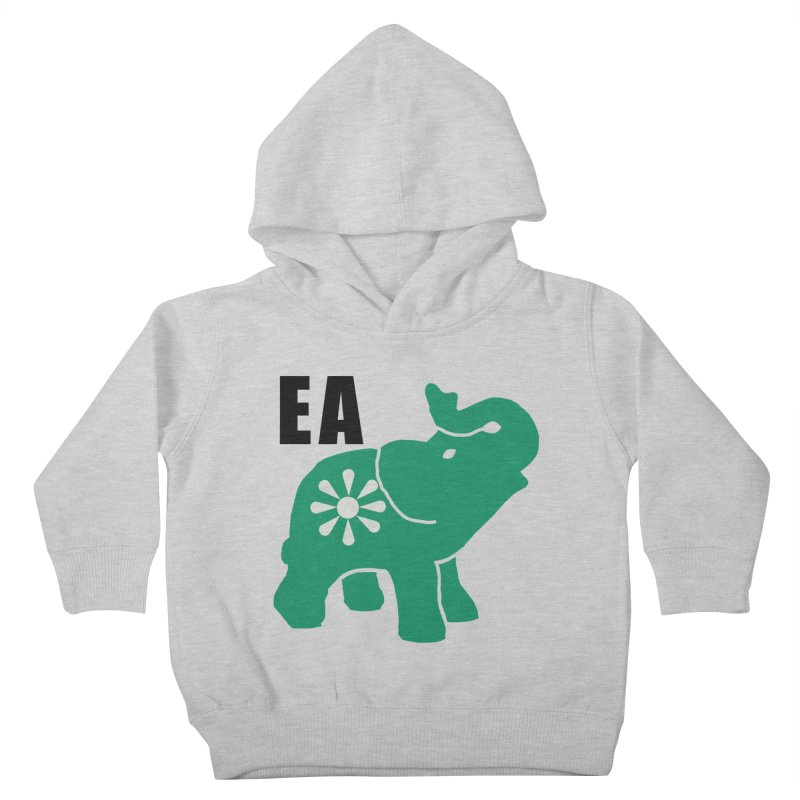 Elephant w EA Kids Toddler Pullover Hoody by everyonesautonomous's Artist Shop