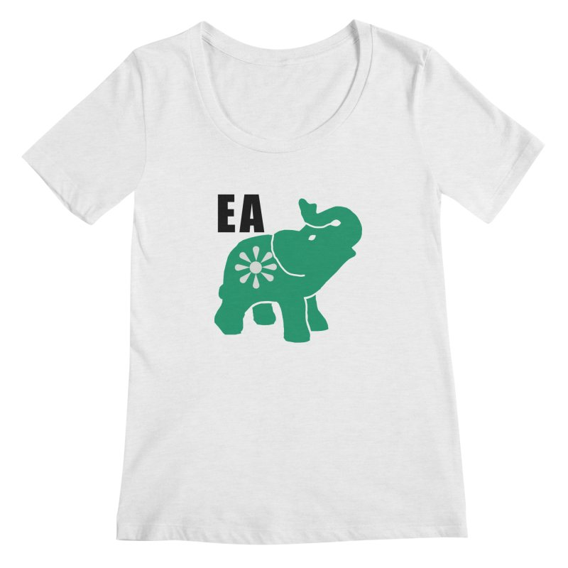 Elephant w EA Women's Regular Scoop Neck by everyonesautonomous's Artist Shop