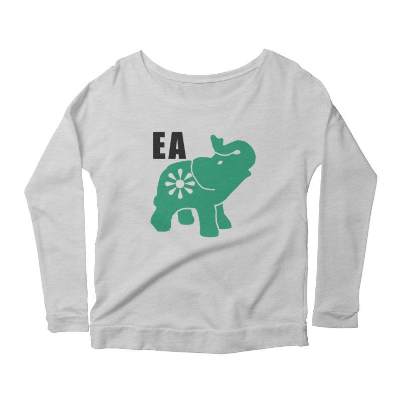 Elephant w EA Women's Longsleeve T-Shirt by Everyone's Autonomous' Artist Shop
