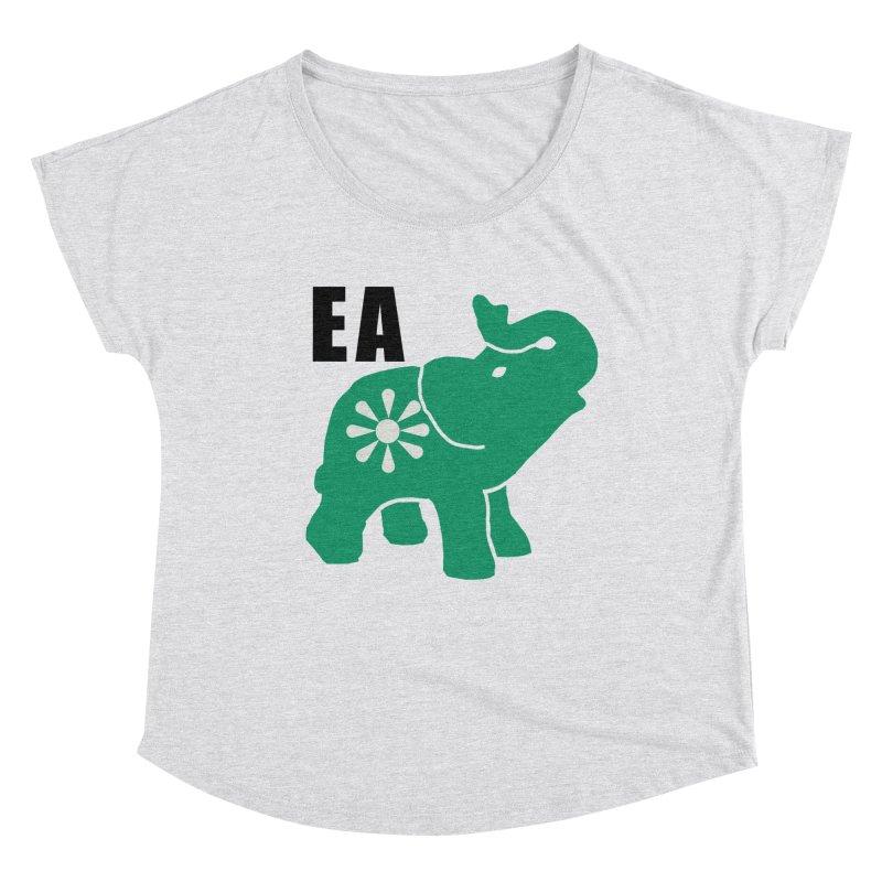 Elephant w EA Women's Dolman Scoop Neck by everyonesautonomous's Artist Shop