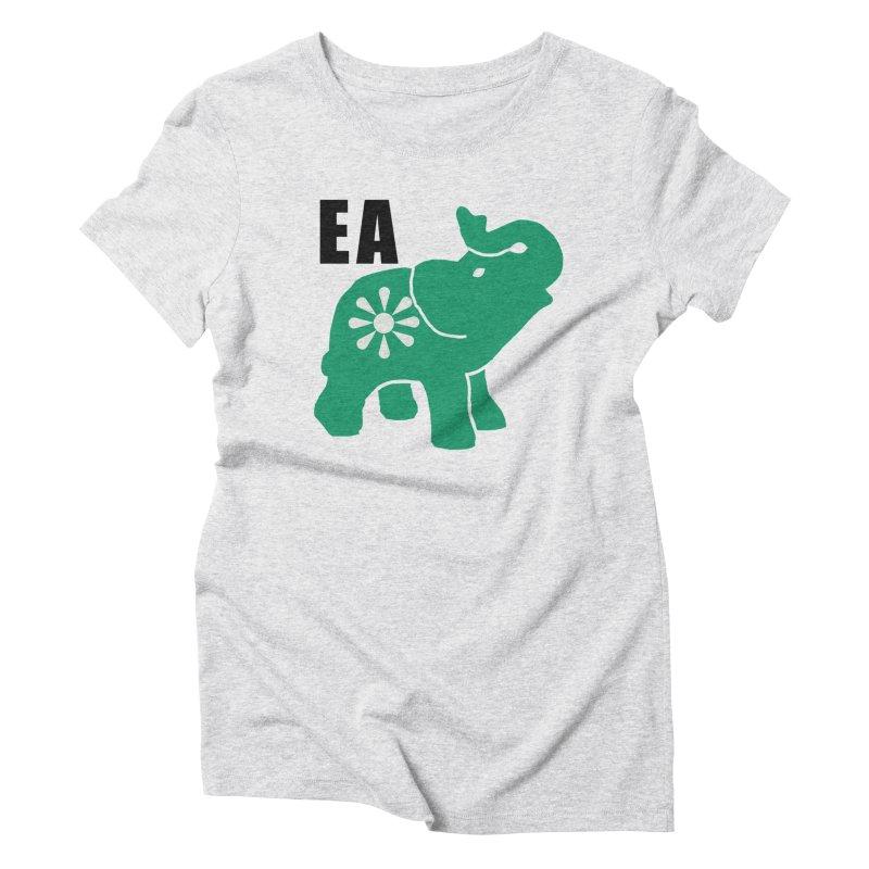 Elephant w EA Women's Triblend T-Shirt by everyonesautonomous's Artist Shop