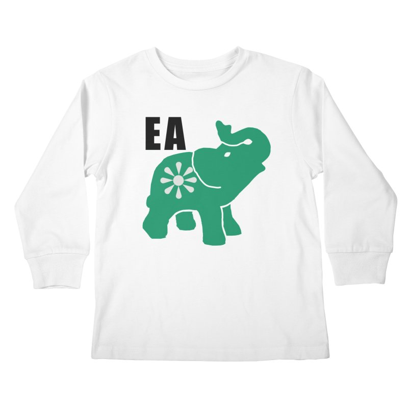 Elephant w EA Kids Longsleeve T-Shirt by everyonesautonomous's Artist Shop