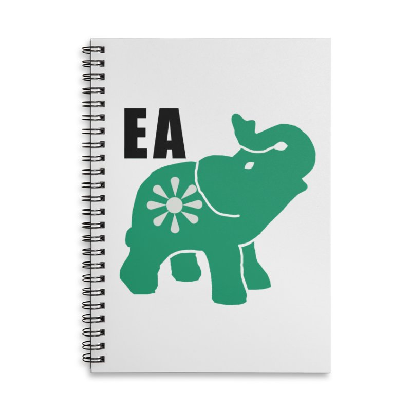 Elephant w EA Accessories Lined Spiral Notebook by everyonesautonomous's Artist Shop