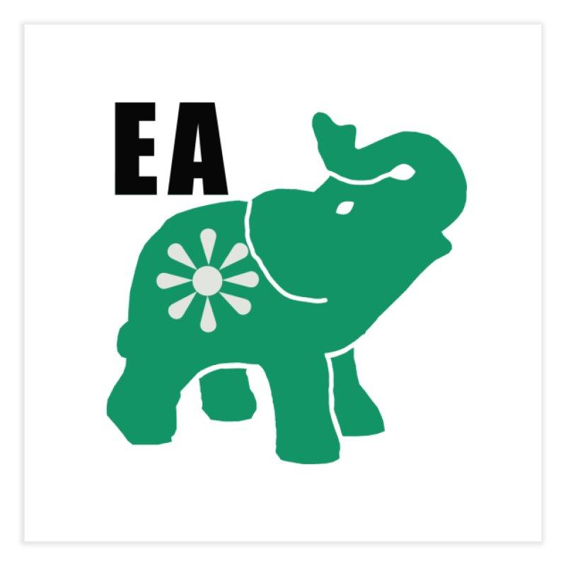 Elephant w EA Home Fine Art Print by everyonesautonomous's Artist Shop