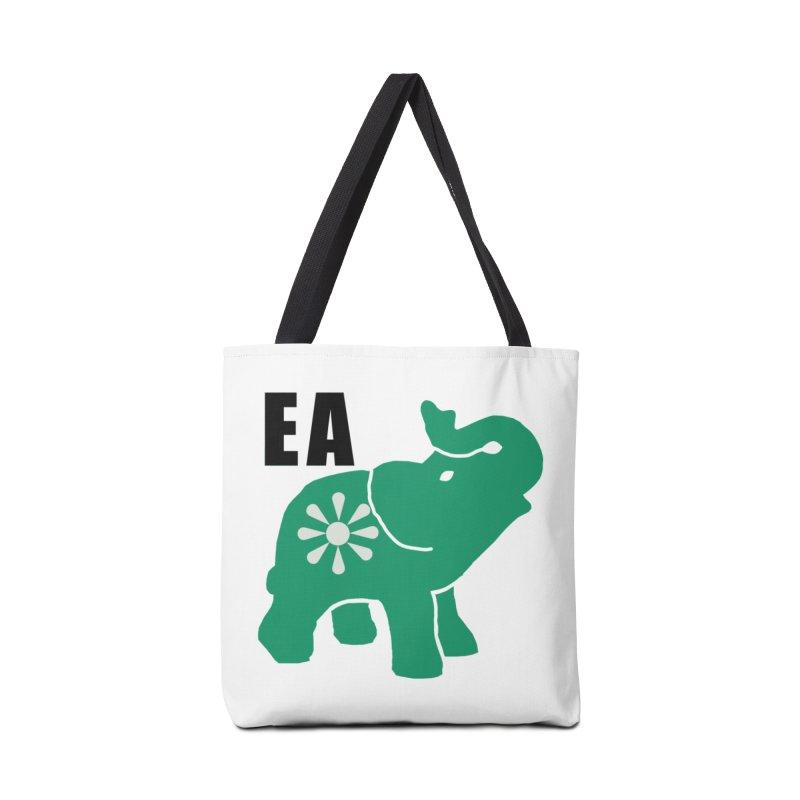Elephant w EA Accessories Tote Bag Bag by everyonesautonomous's Artist Shop