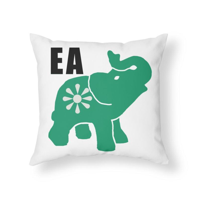 Elephant w EA Home Throw Pillow by Everyone's Autonomous' Artist Shop