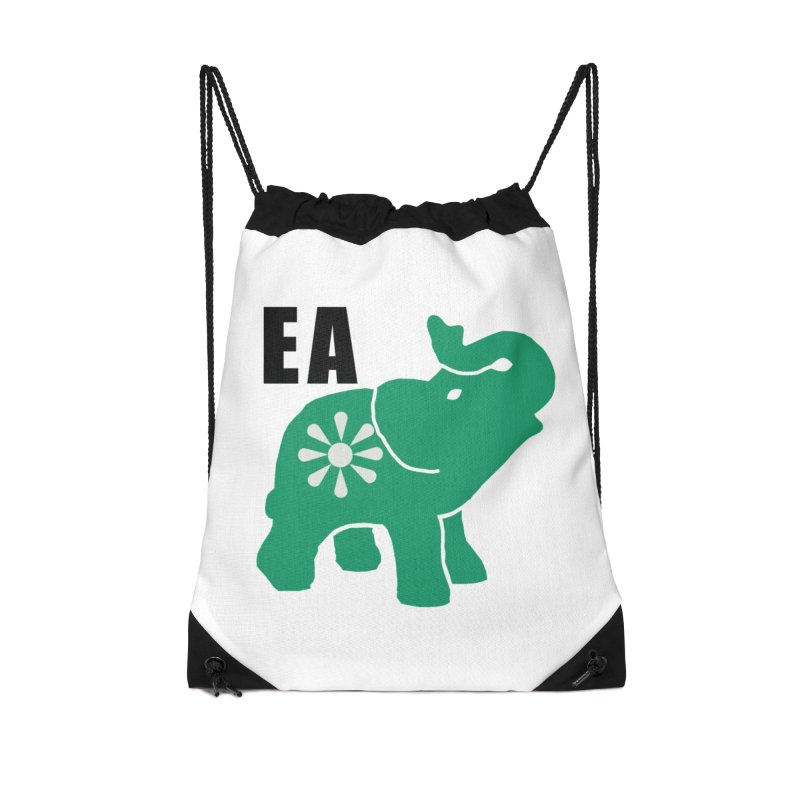 Elephant w EA Accessories Drawstring Bag Bag by everyonesautonomous's Artist Shop