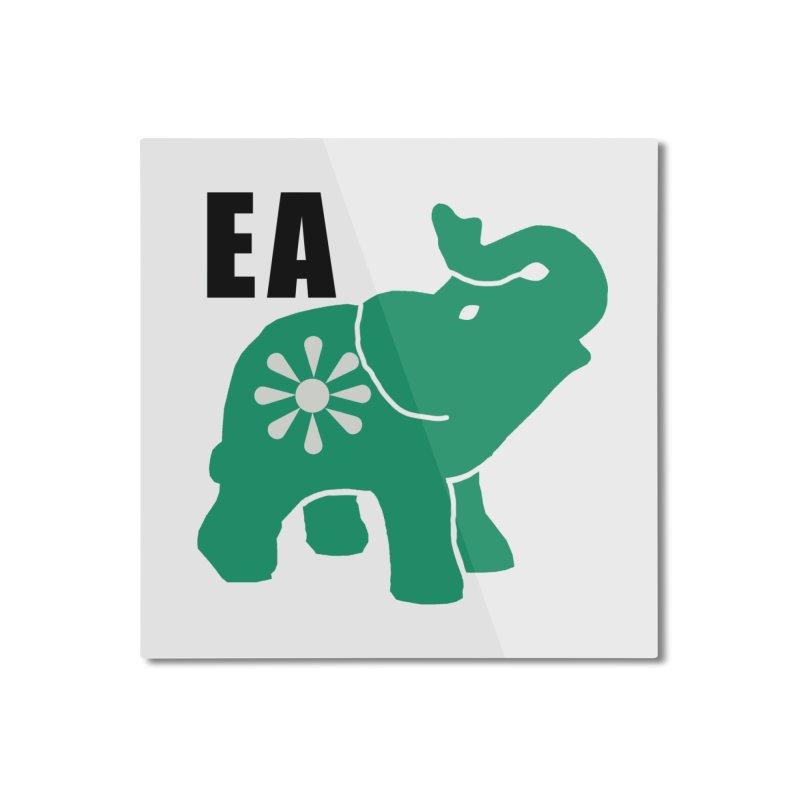 Elephant w EA Home Mounted Aluminum Print by Everyone's Autonomous' Artist Shop