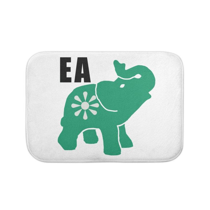 Elephant w EA Home Bath Mat by everyonesautonomous's Artist Shop