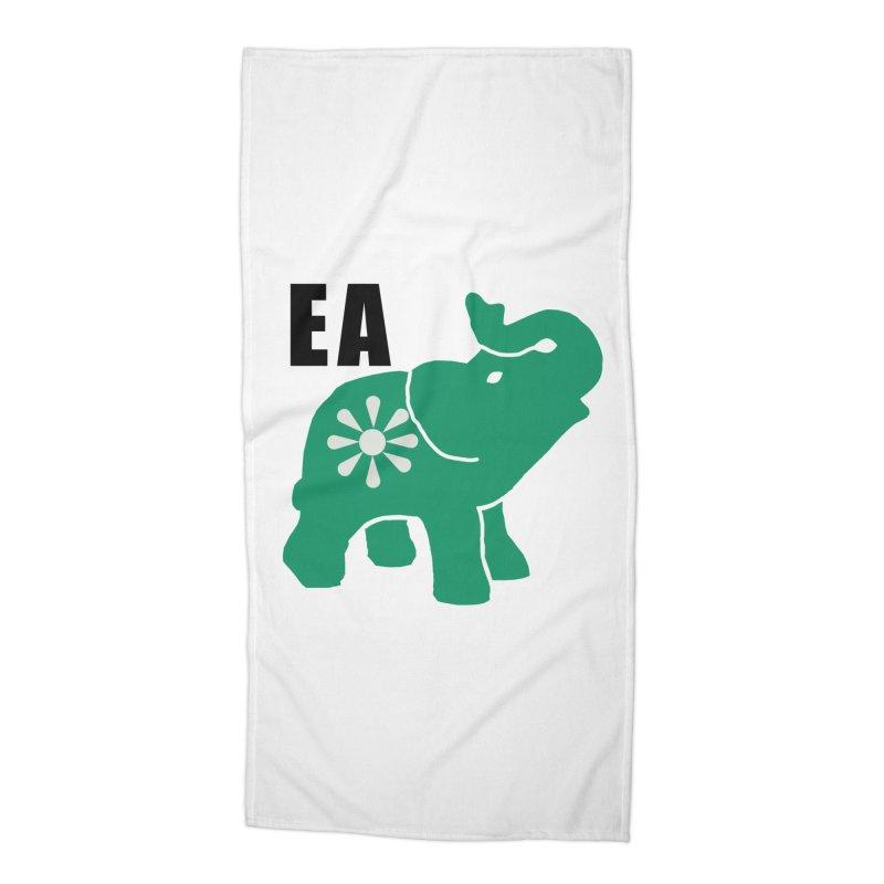 Elephant w EA Accessories Beach Towel by Everyone's Autonomous' Artist Shop