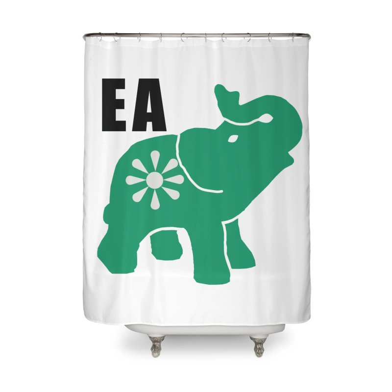 Elephant w EA Home Shower Curtain by everyonesautonomous's Artist Shop