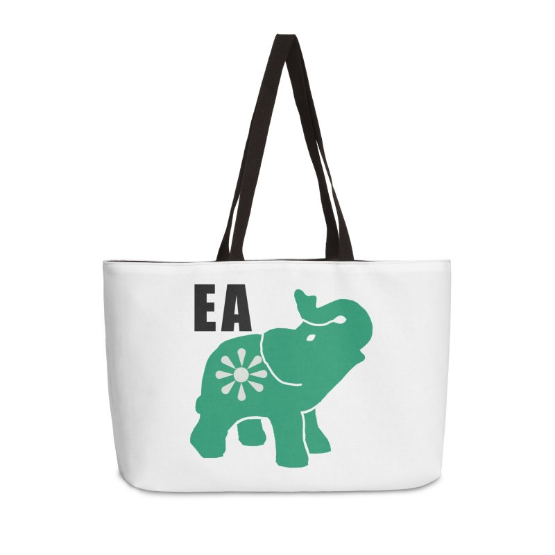 Elephant w EA Accessories Weekender Bag Bag by everyonesautonomous's Artist Shop