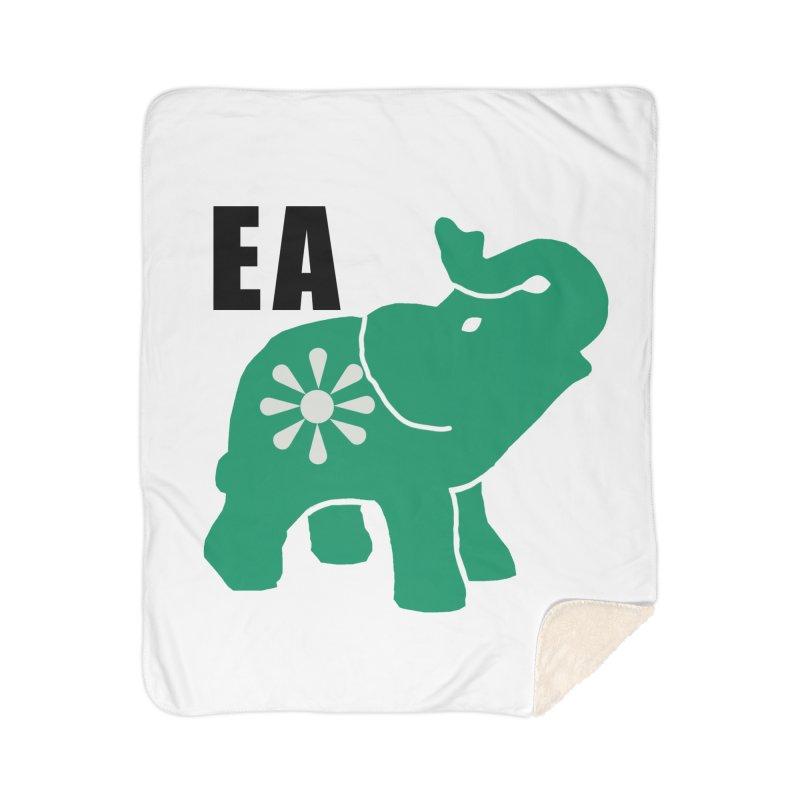 Elephant w EA Home Sherpa Blanket Blanket by everyonesautonomous's Artist Shop