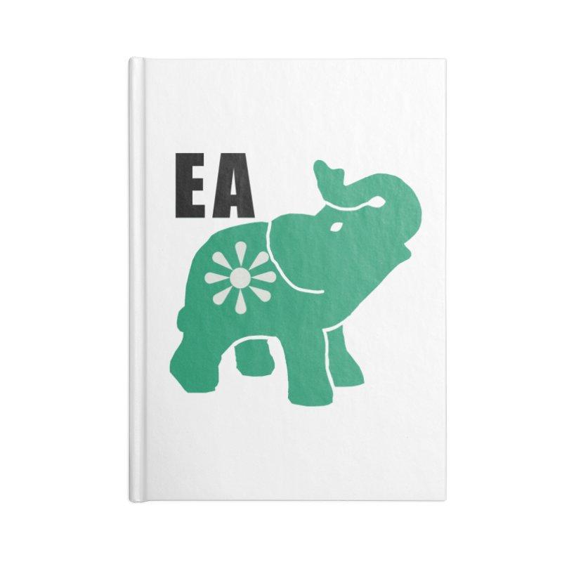 Elephant w EA Accessories Lined Journal Notebook by everyonesautonomous's Artist Shop