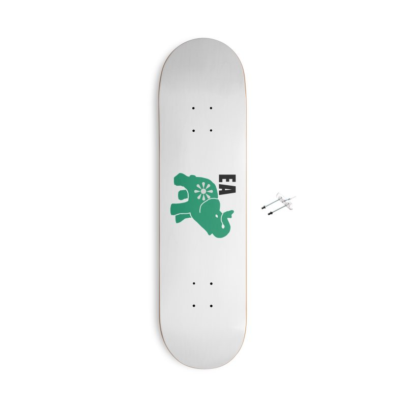 Elephant w EA Accessories With Hanging Hardware Skateboard by everyonesautonomous's Artist Shop