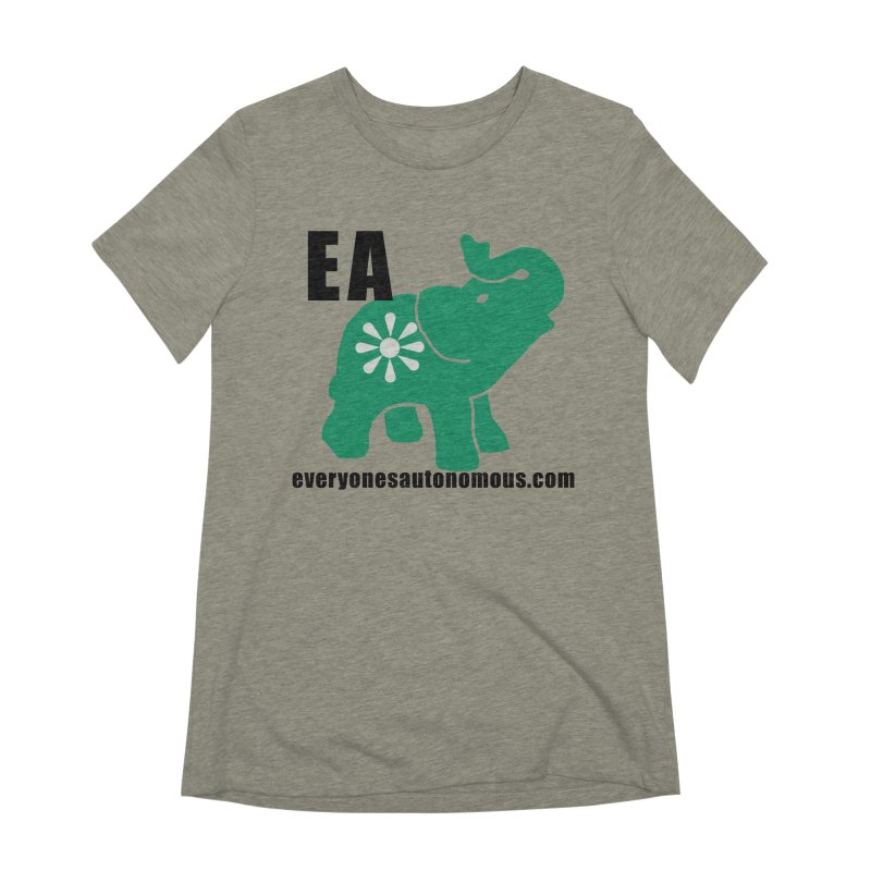 Elephant EA www Women's Extra Soft T-Shirt by everyonesautonomous's Artist Shop