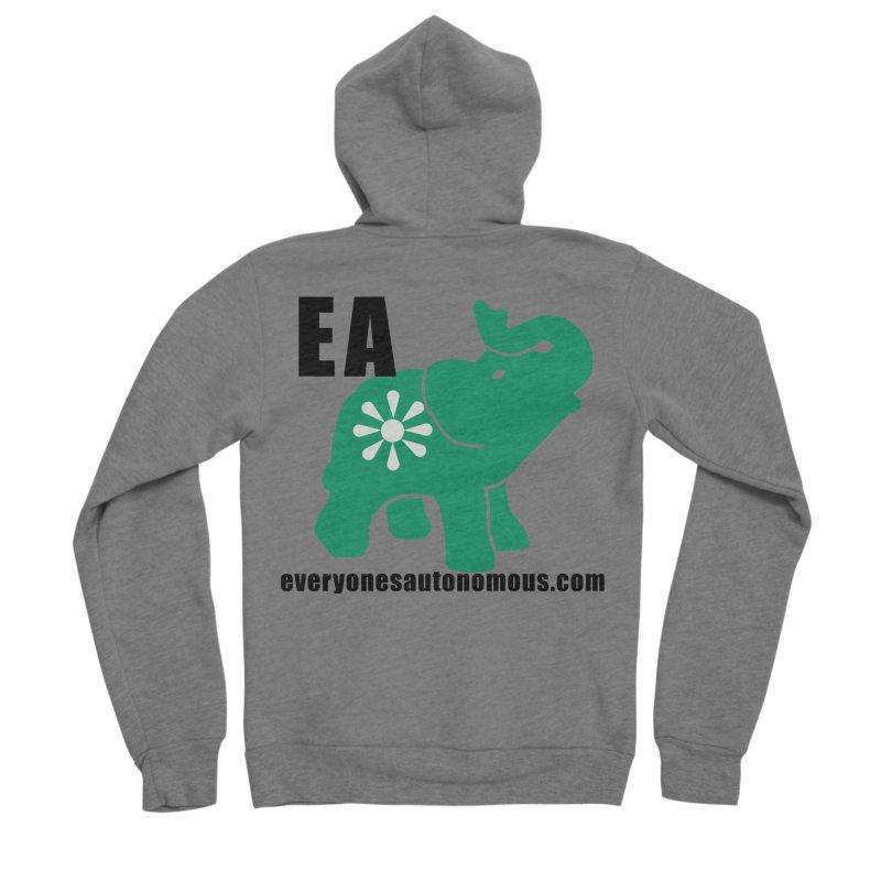 Elephant EA www Women's Sponge Fleece Zip-Up Hoody by everyonesautonomous's Artist Shop